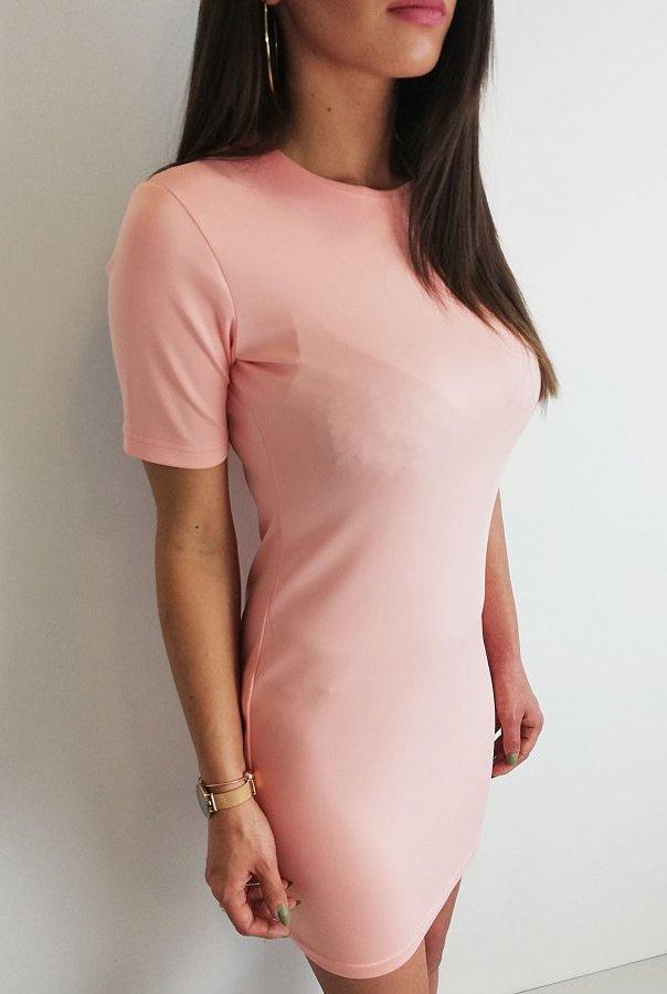 Sukienki 188-BRZOSKWINIOW