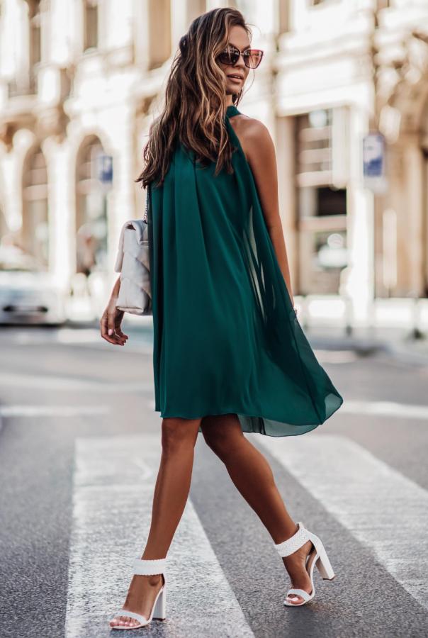 Sukienki 216-ZIELONY
