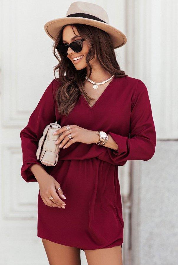 Sukienka CARLA 311-BORDO