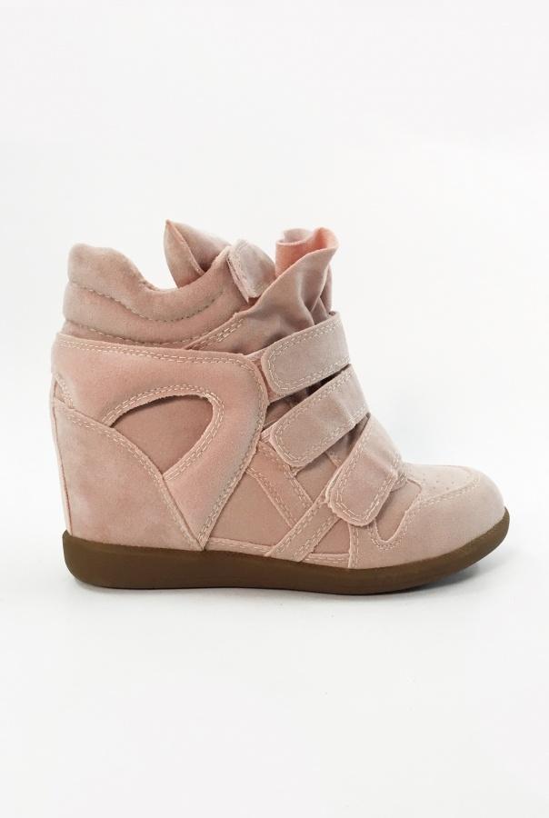 Sneakersy na Rzepy 6039/20-RÓŻOWY