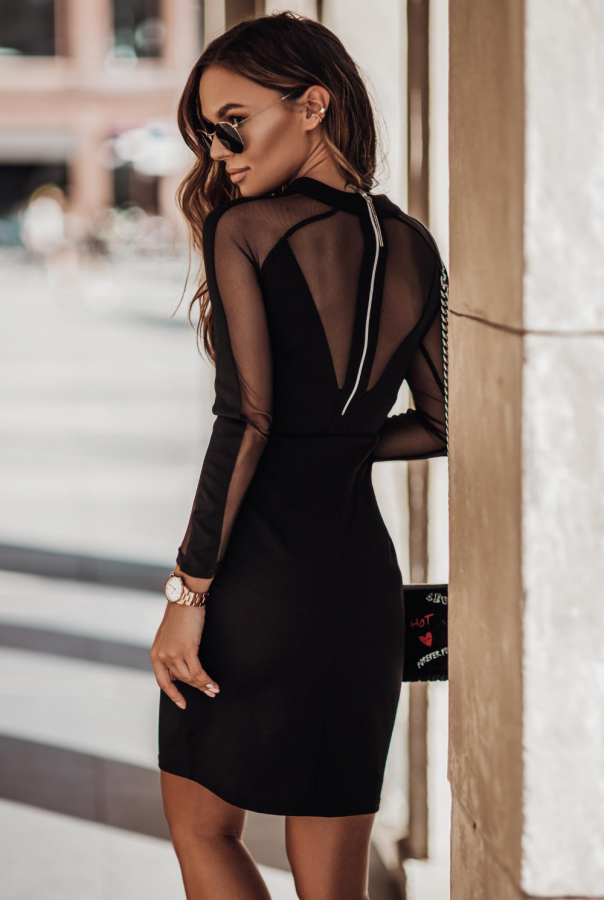 Sukienki 209-CZARNY
