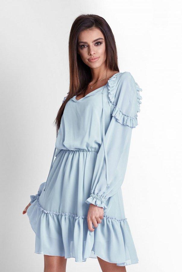 Sukienki 245-BABYBLUE