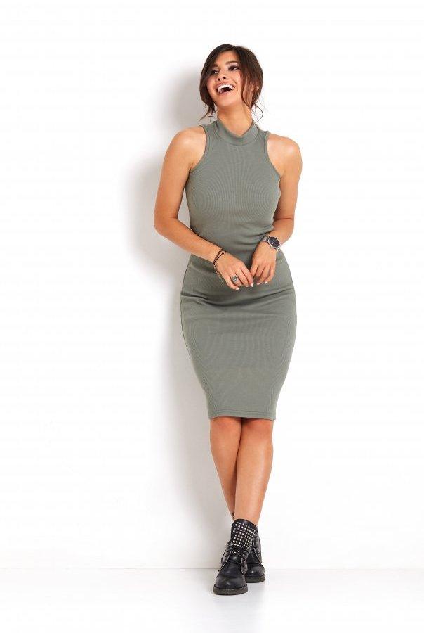 Sukienki 273-KHAKI