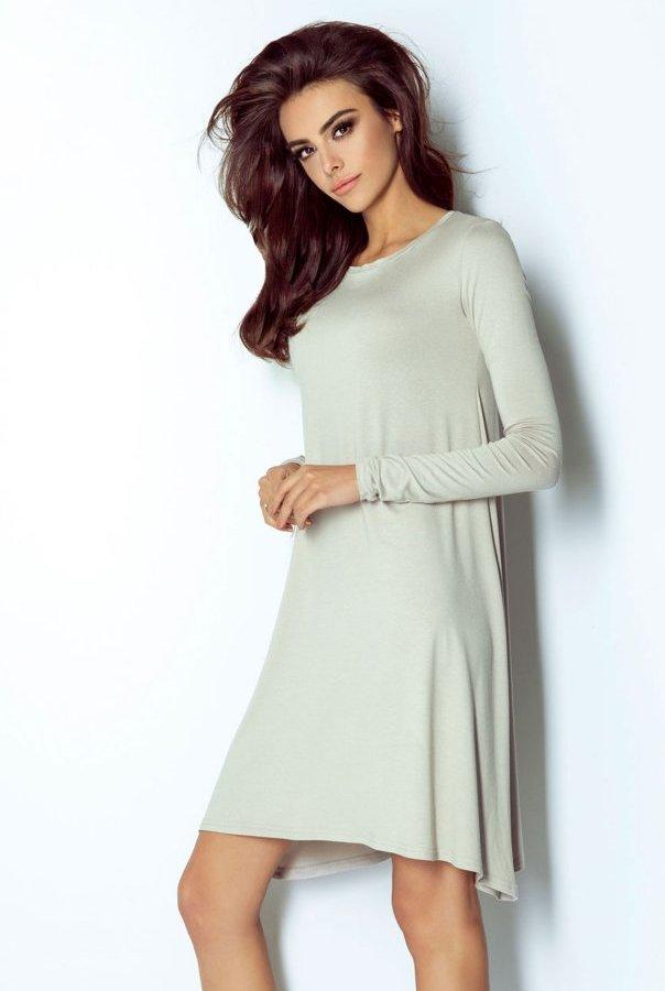 Sukienki 205-BEŻ