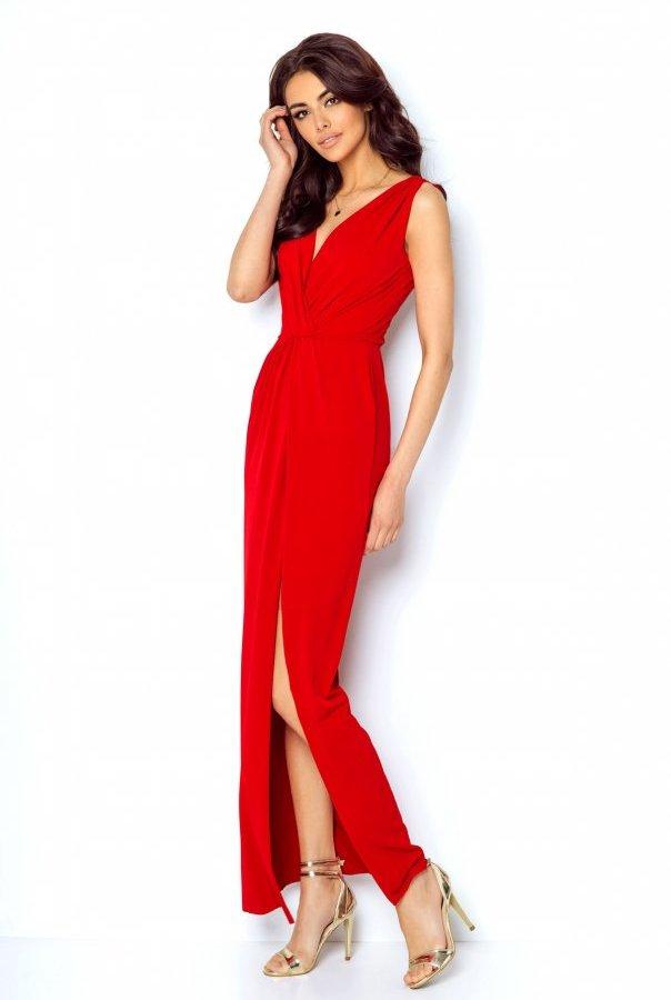 Sukienki 217-CZERWONY