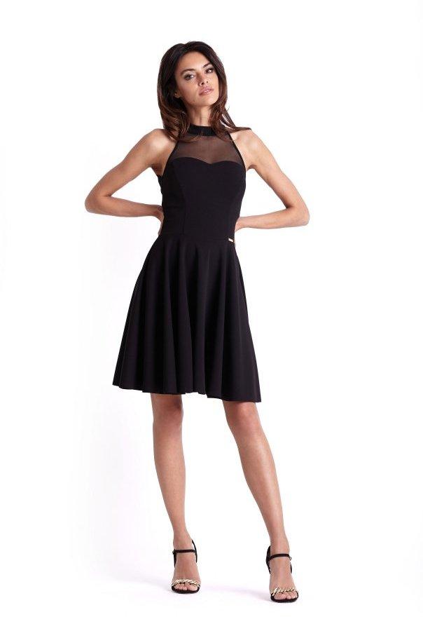 Sukienki 237-CZARNY