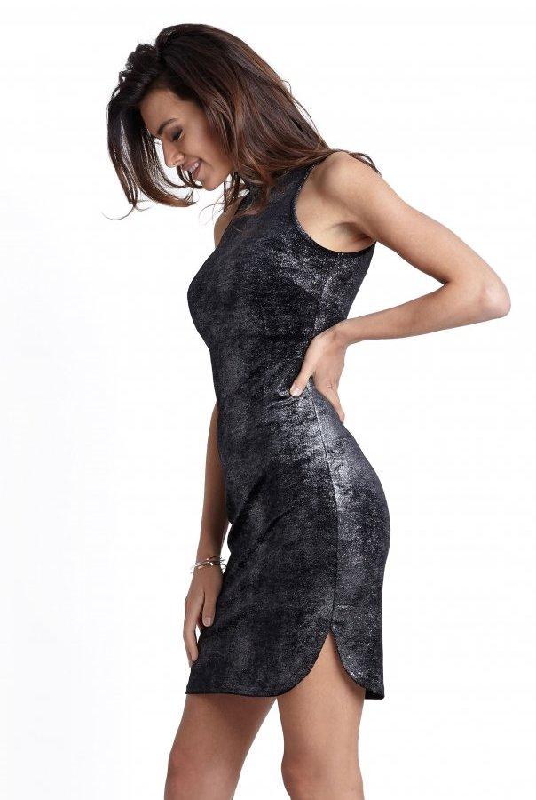 Sukienki 227-CZARNY